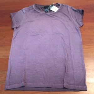 purple fitted tee